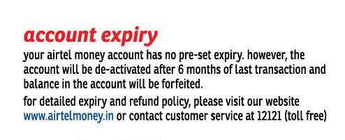 Airtel Money Expiry