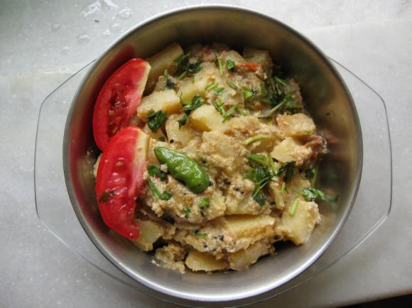 Aloo Badam Dish