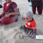 Anant playing with Sand