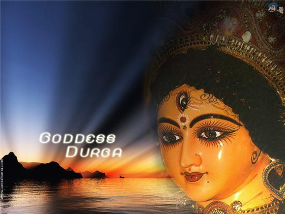 Artistic depiction of Goddess Durga
