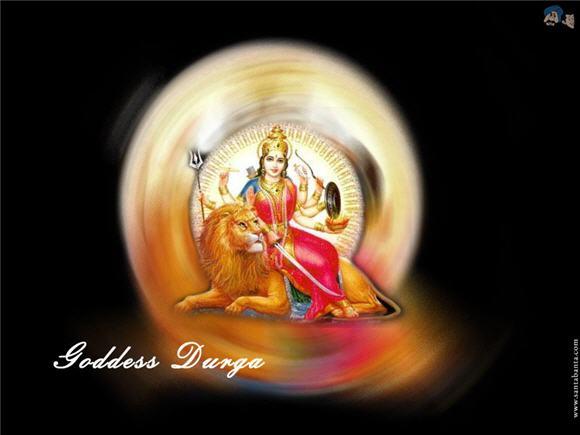 Goddess Durga with Aura