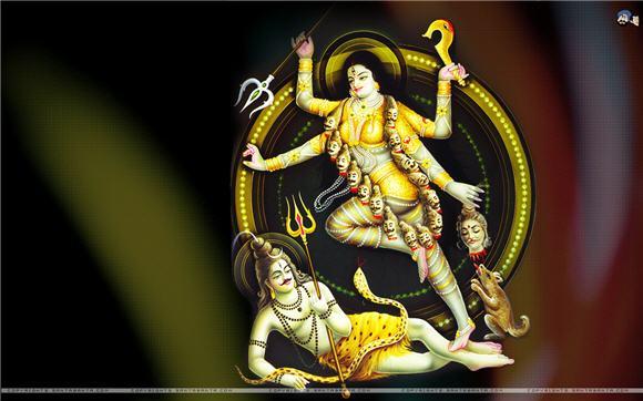Goddess and lord Shiva