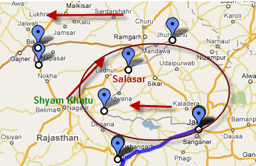 Map Temples Of Rajasthan