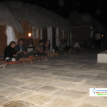 Night party in mid of desert
