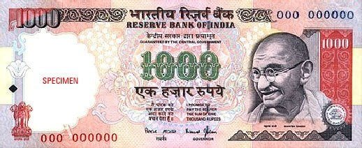 One Thousand Note