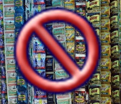Pan Masala and Gutka Pouches ban from March 2011