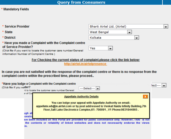 TCCMS Guide to Telecoms Complaint Query Portal