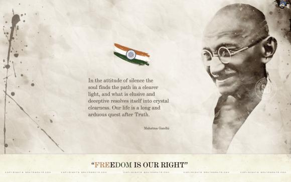 Independence day : Gandhi ji