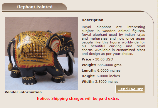 Online store for buying Wooden Indian handicrafts